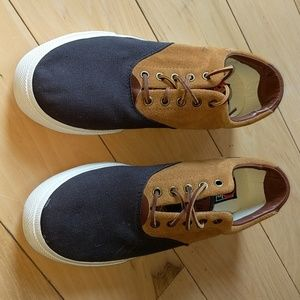 Polo ralph lauren leather canvas casual shoes